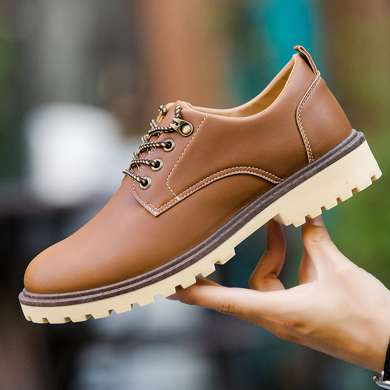 Spring and summer new England men's leather shoes