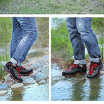 Leather breathable waterproof hiking shoes - freakichic