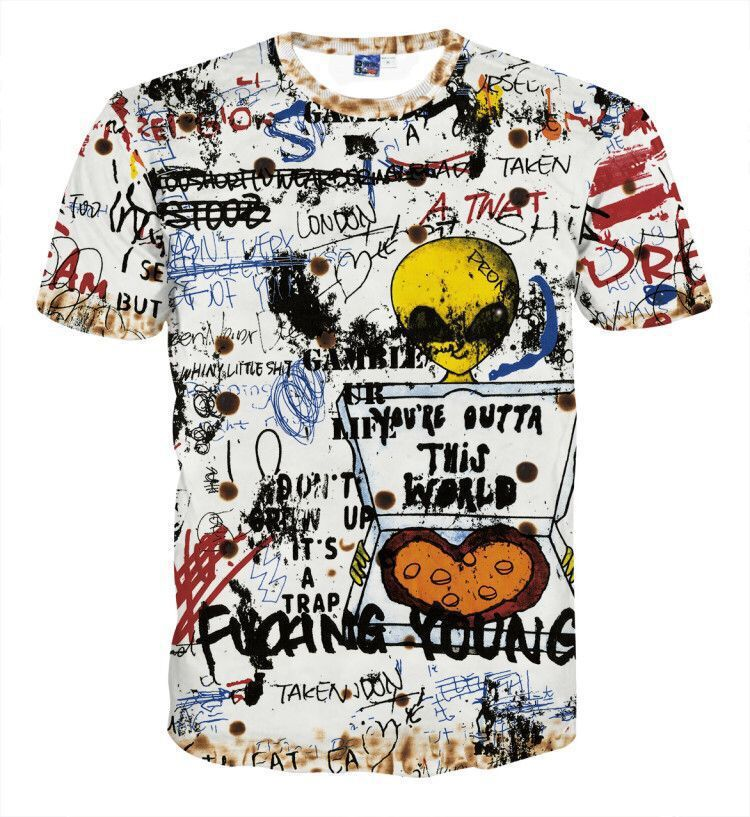 Hip Hop Graffiti Spring Men's T-Shirt - freakichic