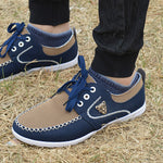 New brand canvas casual men shoes british loafers flats mens masculino jogging driving shoes