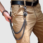 Hip-hop punk horns metal casual wild pants chain - freakichic