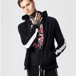 2019 spring new 8th big zipper tide brand sports wind men's stitching hoodie - freakichic