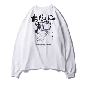 Harajuku T-shirts Men Women Long Sleeve 3d Animal Print Hip Hop Tee Shirt - freakichic