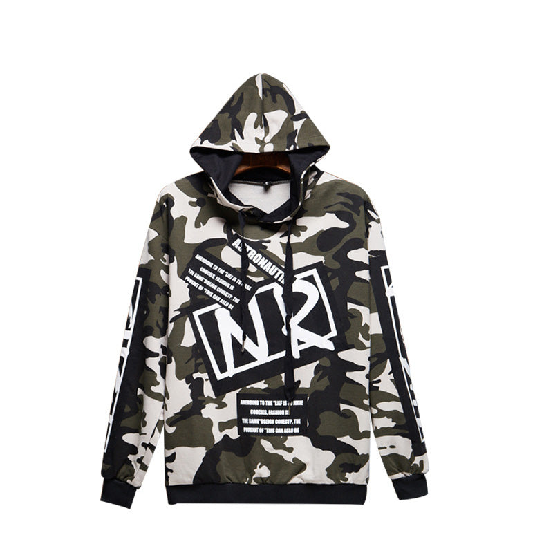 Hip-hop long-sleeved camouflage jacket - freakichic