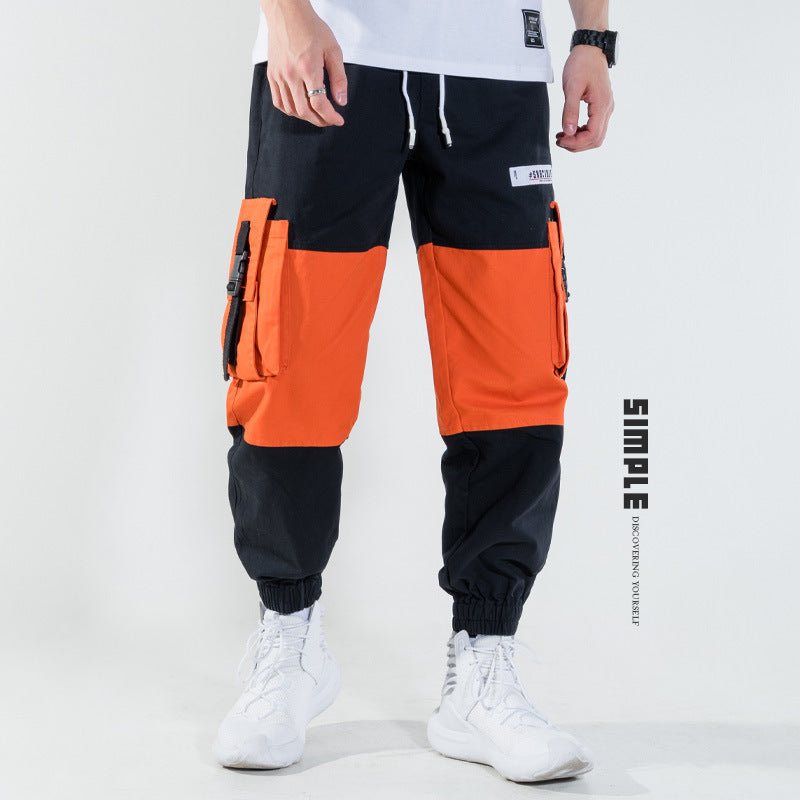 b24c188f Hip-hop multi-pocket Japanese casual pants stitching pants - freakichic