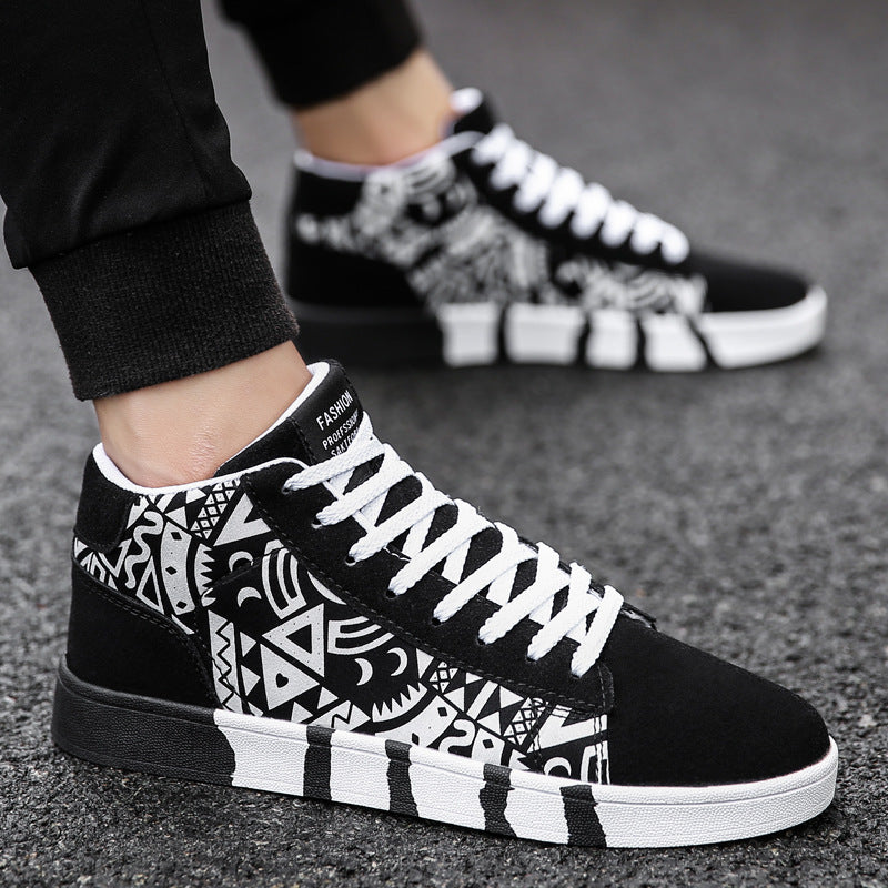 Men's outdoor fashion canvas shoes color matching casual shoes