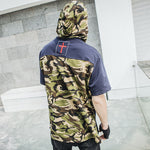 Men Stylish Short Sleeve Camoflage Black Shirts - freakichic