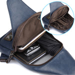 PU chest bag tide men's shoulder Messenger bag