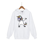 Unicorn Printed Funny Hip Hop Fleece Hoodies