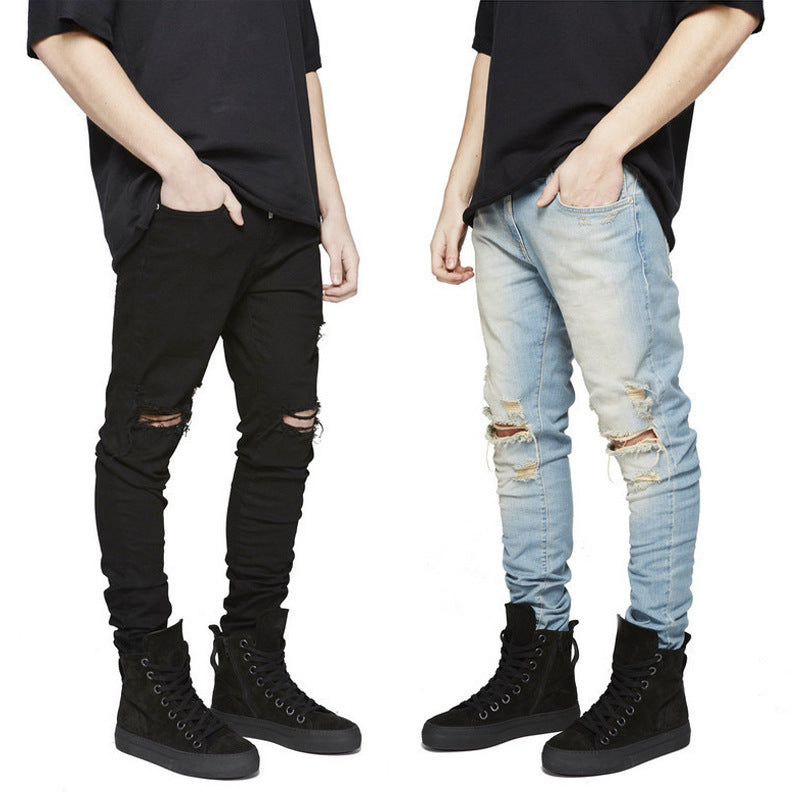 Men Ripped Jeans With Holes - freakichic