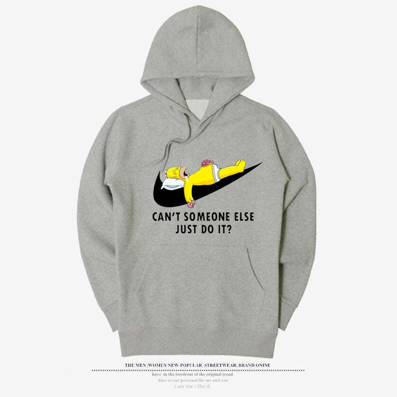 JUST DO IT round neck men's hooded sweater - freakichic