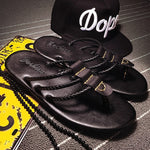 Men's beach sandals summer outdoor skid flip flops