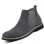 Men Chelsea Boots Ankle Boots Fashion Men's Male Brand Leather Quality Slip boots - freakichic