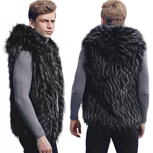 Fashion autumn and winter new men's faux fur wild warm vest - freakichic