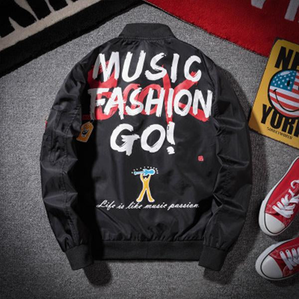 Men's trend jacket street hip hop casual sweater