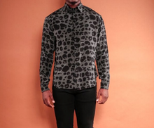 Load image into Gallery viewer, Silk Animal Print Shirt