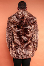 Load image into Gallery viewer, Cheetah Hood Trench Coat