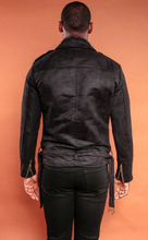 Load image into Gallery viewer, Suede Moto Jacket