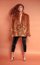 Load image into Gallery viewer, Faux Fur Cheetah Print Over Size Blazer