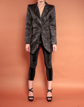 Load image into Gallery viewer, Flower Brocade Trench Blazer