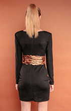 Load image into Gallery viewer, Bow Neckline Cocktail Dress w/ tigress belt