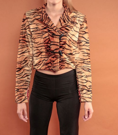 Tigress Print Crop Jacket