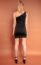 Load image into Gallery viewer, Off Shoulder Strap Mini Dress
