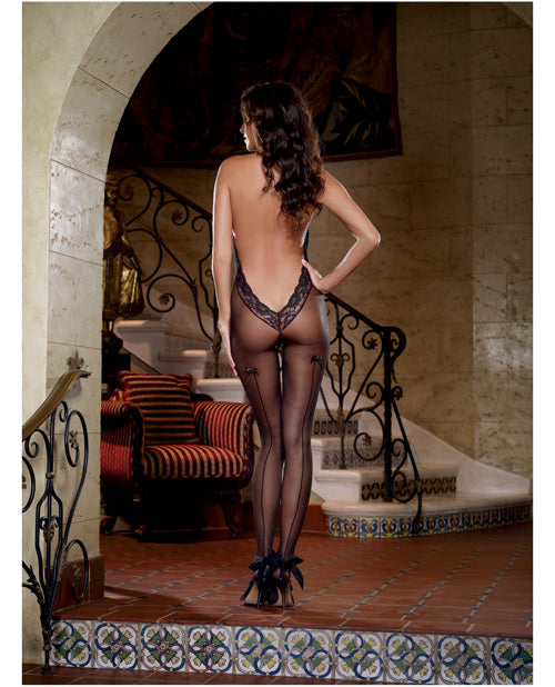 Sheer Bodystocking & Low Back O-s