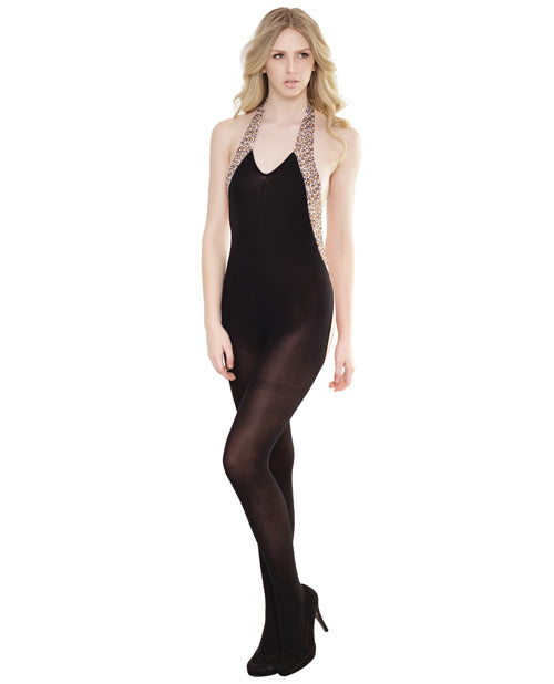 Leopard Sleek Sheer Bodystocking