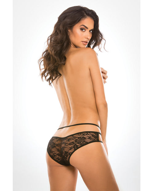 Adore Lace Sweet Heavens Panty Black O-s