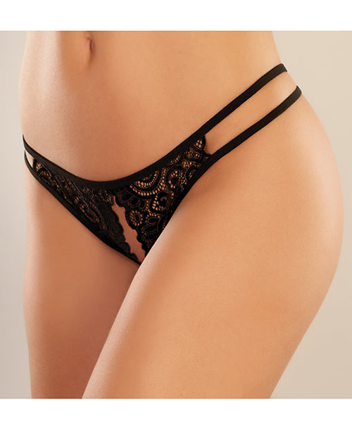 Adore Lovestruck Panty Black O-s