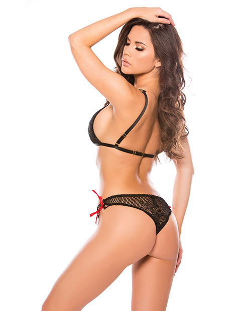 Kitten Tara Bralette Set Black O-s