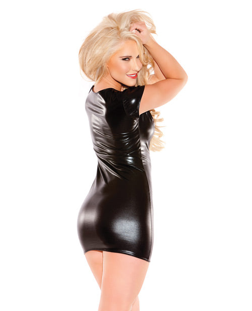 Kitten Wet Look Dress Black O-s