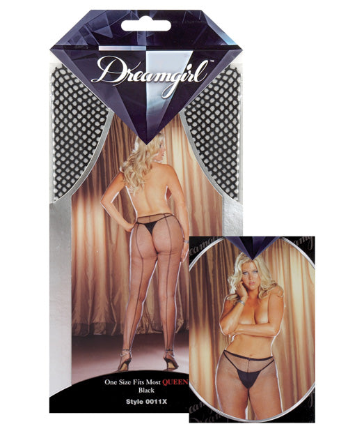 Fishnet Pantyhose W/back Seam
