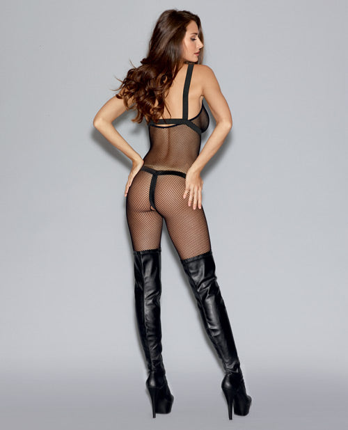 Fishnet Bodystocking & Elastic Body Harness