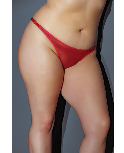 Holiday Adjustable Thong W-bow In The Back Red Qn
