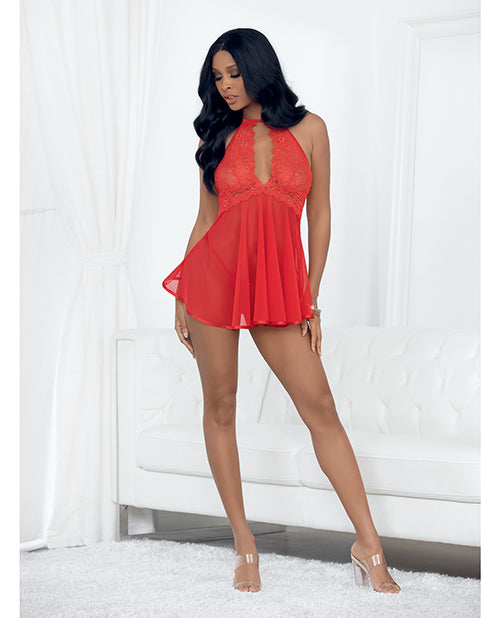 Valentines Shorty Babydoll Red