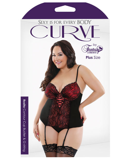 Curve Rosita Bustier & G-string Black/red