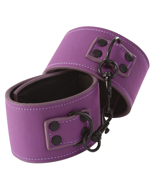 Lust Bondage Wrist Cuffs - Purple