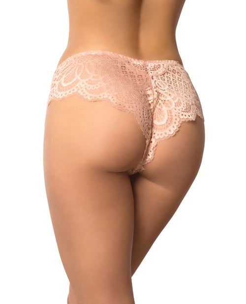 Lace Scalloped Tanga Panty Evening Sand Xs