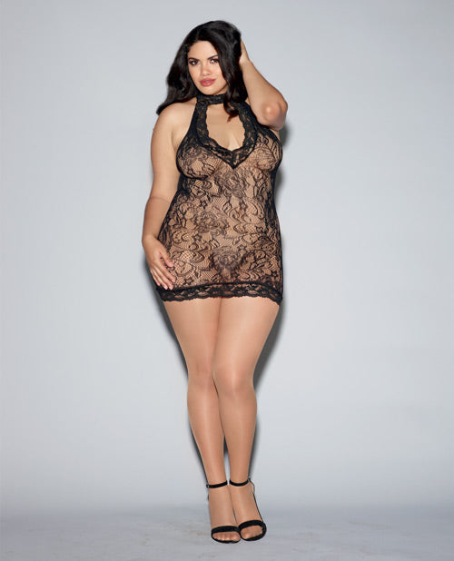 Seamless Stretch Lace Collard Chemise