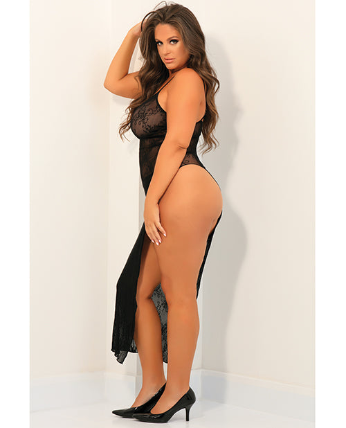 Rene Rofe Take The Heat Lace Gown Black Qn