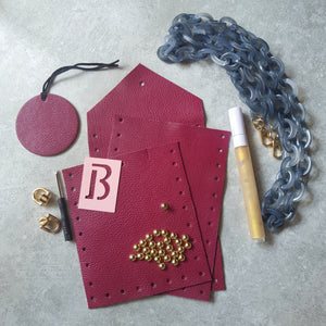 DIY Essentials Slingbag Kit: Burgundy