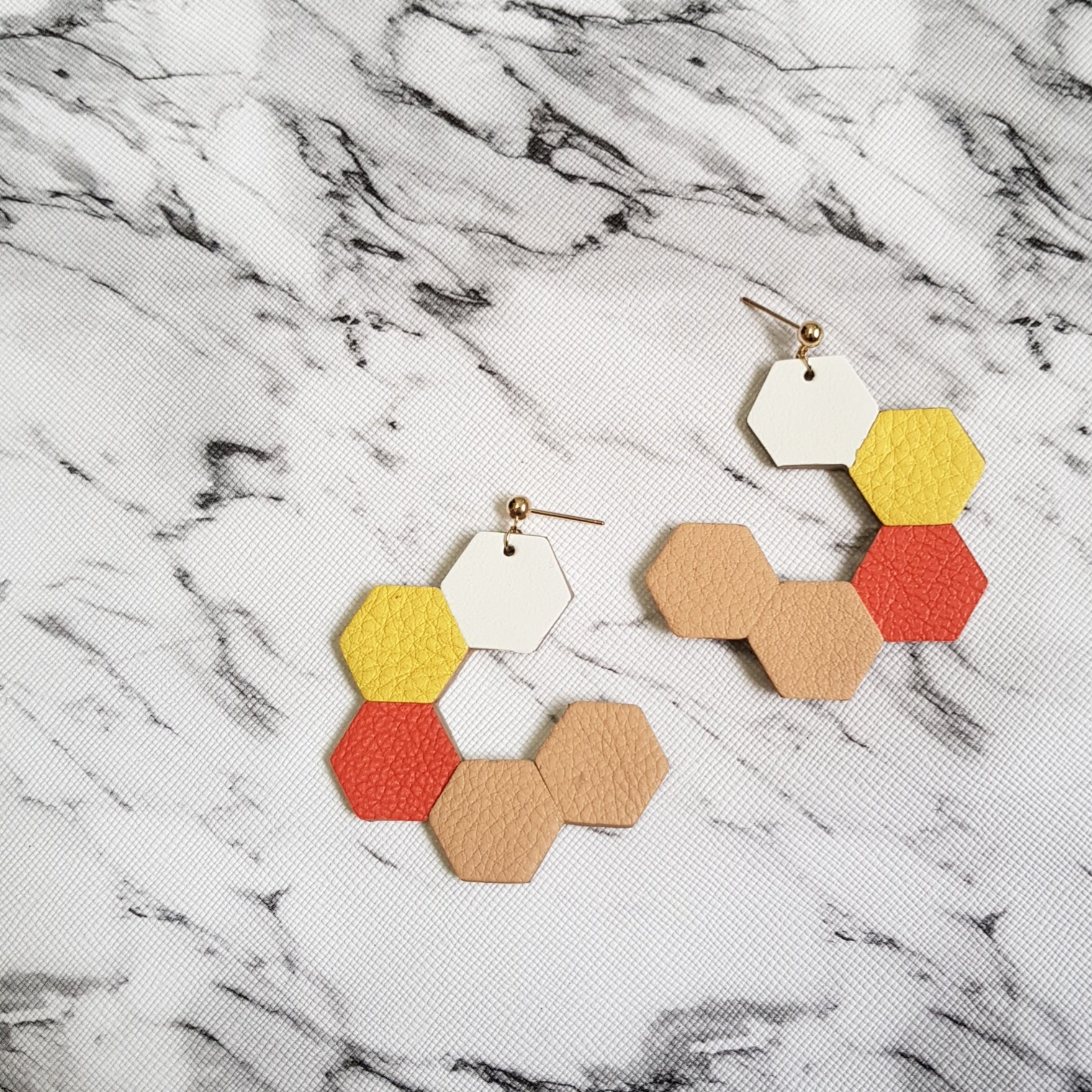 HexaLoop Earrings (YELLOW)