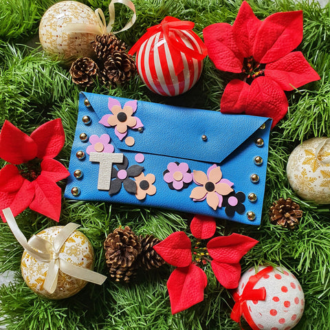 DIY Clutch Kit: Floral Fantasy (DENIM BLUE)