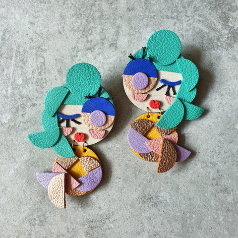 Mermaid Twins Dangle-studs (FROLIQUE)