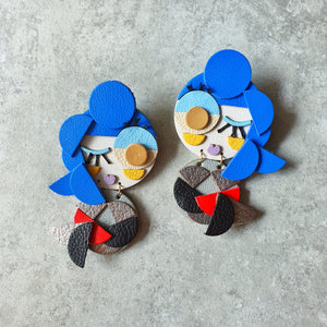 Mermaid Twins Dangle-studs (ROCK QUEEN)