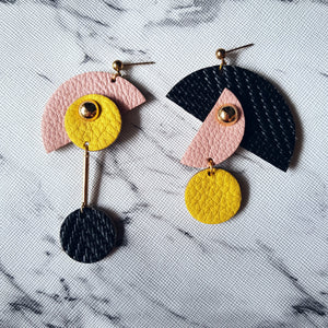 PacMan Asymmetrical Earrings (BLACK)