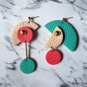 PacMan Asymmetrical Earrings (JADE)