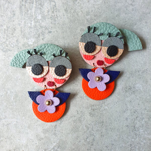 Preppy Twins Dangle-studs (FRESH)